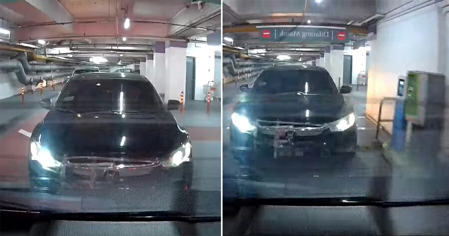 Watch: This M'sian is So Cheapskate That He Follows Car In Front to Escape Paying Ticket at MidValley - WORLD OF BUZZ