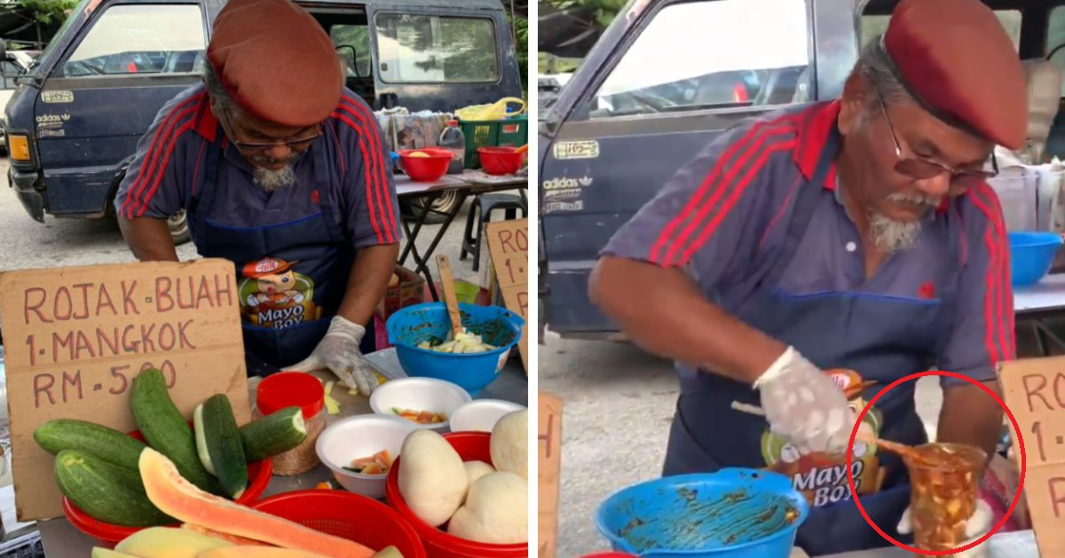 Watch: This Rojak Uncle Is Going Viral For All The Right Reasons, Netizens Praise His Generosity - WORLD OF BUZZ