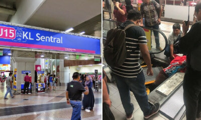 Woman Allegedly Swallowed By KL Sentral Escalator That Malfunctioned, Rushed to Hospital - WORLD OF BUZZ