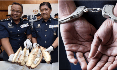 Woman Caught Smuggling More Than RM950,000 Worth Of Drug Inside Frozen Durian - WORLD OF BUZZ 3