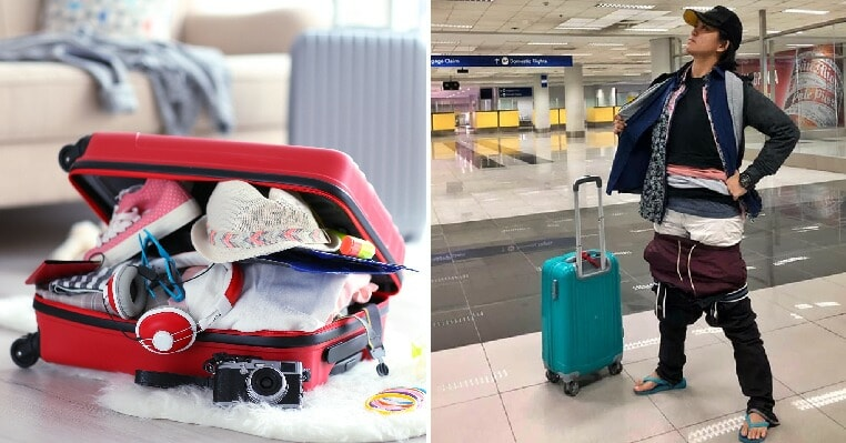 Woman Hilariously Decides to Wear Extra 2.5kg of Clothes After Discovering Luggage is Overweight - WORLD OF BUZZ