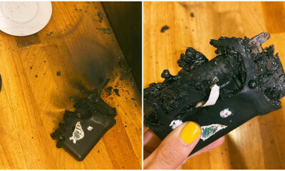 Woman's Powerbank Left Uncharged Overnight, Wakes Up To Burning Smell Because It Exploded In Her Sleep - WORLD OF BUZZ 5