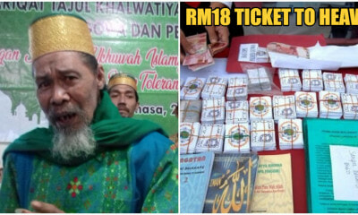 "74yo Uncle Builds A Cult & Sells ""Go To Heaven Cards"" For RM18, Gets Arrested - WORLD OF BUZZ"