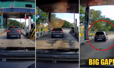 Watch: Myvi Escapes Paying for Toll By Squeezing Through the Gap Beside the Boom Gate - WORLD OF BUZZ