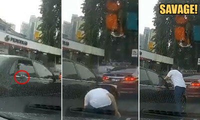 Watch: Shameless M'sian Throws Rubbish Out of Car but a Pedestrian Picks it Up & Puts it Back on Car - WORLD OF BUZZ