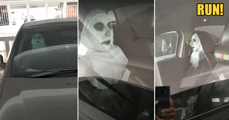 Horror Movie The Nun Comes to Life in this Carpark - WORLD OF BUZZ