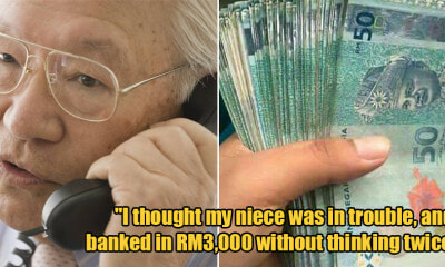 65yoo M'sian Scammed of RM3,000 by Woman Who Mimicked the Voice of His Niece - WORLD OF BUZZ