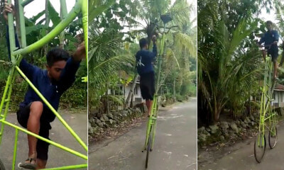 Boy Demonstrating An Almost Impossible Bicycle To Ride - WORLD OF BUZZ 4