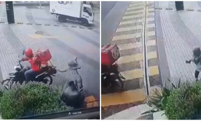Criminal Posing As Foodpanda Rider Attempts To Snatch Unsuspecting Lady's Handbag In Mont Kiara - WORLD OF BUZZ 2