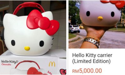 First RM3,000, Now Scalpers Are Selling the McD Hello Kitty Carrier for RM5,000! - WORLD OF BUZZ 1