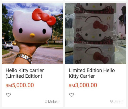 First RM3,000, Now Scalpers Are Selling the McD Hello Kitty Carrier for RM5,000! - WORLD OF BUZZ