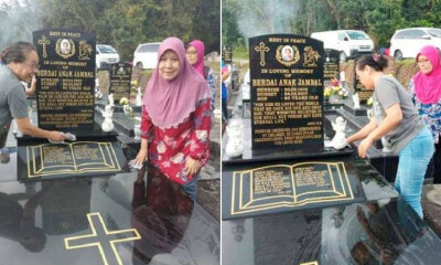 Muslim Lady Visits & Cleans Grandma's Grave On All Souls Day, Gets Praised By Netizen - WORLD OF BUZZ