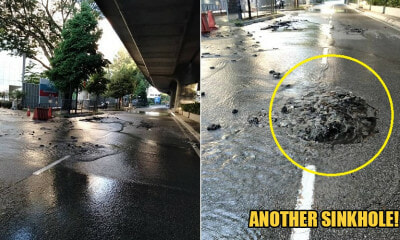 DBKL: Another Sinkhole Appears In KL Road, M'sians Warned Not To Use Jalan Imbi - WORLD OF BUZZ