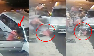 Video: M'sian Woman Run Over by Car When She Starts It Without Putting Gear in Neutral - WORLD OF BUZZ