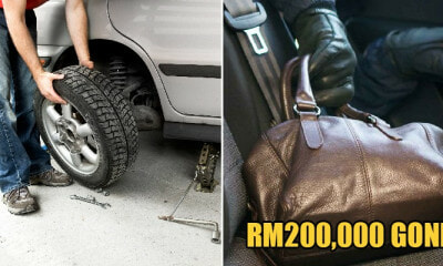 """Good Samaritan"" Steals RM200k From Subang Man's Car After Helping Him Change Flat Tyre - WORLD OF BUZZ 2"