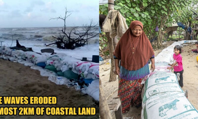 Kelantan Coastal Residents Build Wave Breakers to Prevent Waves from Crashing into Their Homes - WORLD OF BUZZ