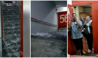 Komtar Has New Makeshift Waterfall, After One Of Its Floors Suffered Water Leakage - WORLD OF BUZZ 1