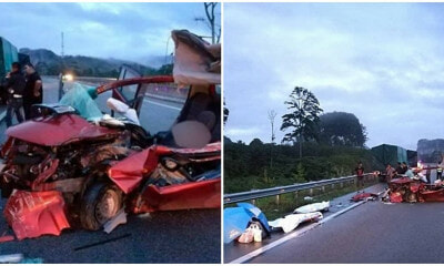 Kuantan Man Dozes Off While Driving & Crashes Into Parked Lorry, Killing 2 Of His Friends - WORLD OF BUZZ 2