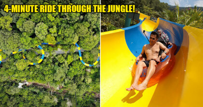 Longest Water Slide In The World Opens In Penang, Netizen Shares First-hand Experience Riding It! - WORLD OF BUZZ 2