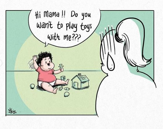 Malaysian Dad Illustrates Charming and Relatable Moments With His Daughter - WORLD OF BUZZ 6