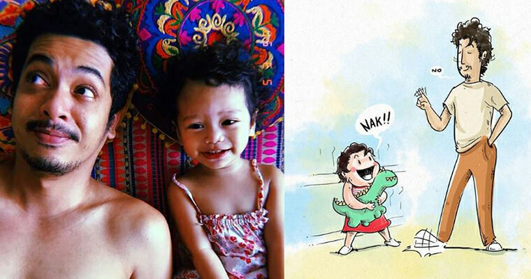 Malaysian Dad Illustrates Charming and Relatable Moments With His Daughter - WORLD OF BUZZ 7