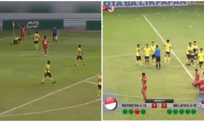 Malaysian U-18 Players Pelted With Water Bottles When They Beat Their Indonesian Rivals On Their Own Turf - WORLD OF BUZZ 4