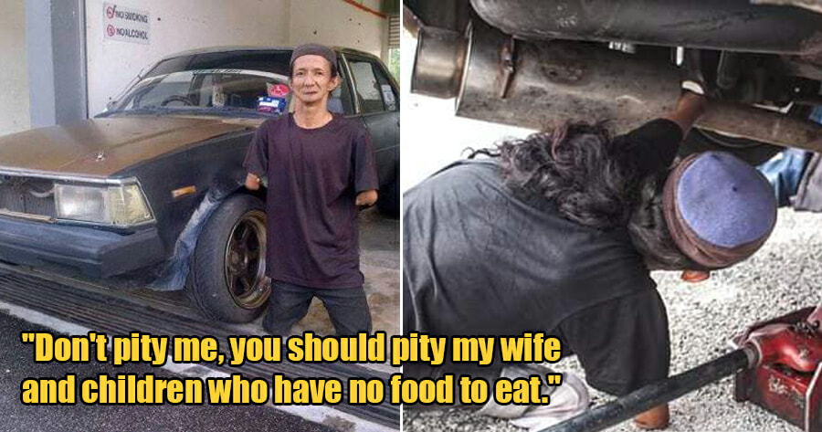 Poor Mechanic Shares That He Struggles to Support His Family As Customers Don't Want a Disabled Mechanic - WORLD OF BUZZ