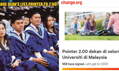 M'sian College Students Create Petition To Lower Dean's List Award Requirement To 2.00 Pointer - World Of Buzz