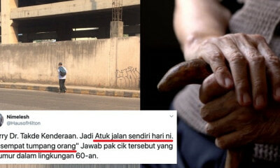 M'sian Doctor Heartbroken Because His Elderly Patient Was Abandoned by His Children - WORLD OF BUZZ