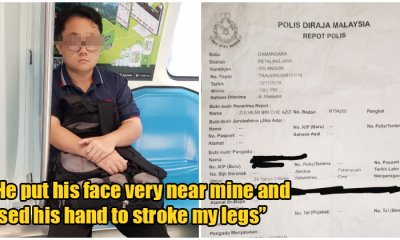 M'sian Lady Angered by Lousy Attitude from Police After She Was Molested by Creepy Man on MRT - WORLD OF BUZZ