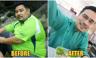 M'sian Teacher Broke Few Chairs Because of His Weight, Loses 65KG, Looks Unrecognisable Now - WORLD OF BUZZ