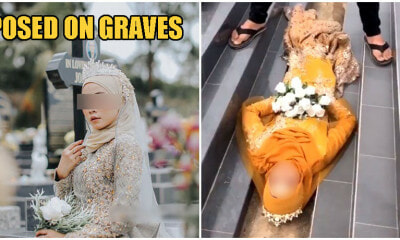 M'sian Woman Gets Public Backlash After Having Bridal Photoshoot In Christian Cemetery - WORLD OF BUZZ 3