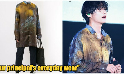 Netizens Are Loving BTS Taehyung's Batik-Like 'PIBG Meeting' Shirt! - WORLD OF BUZZ