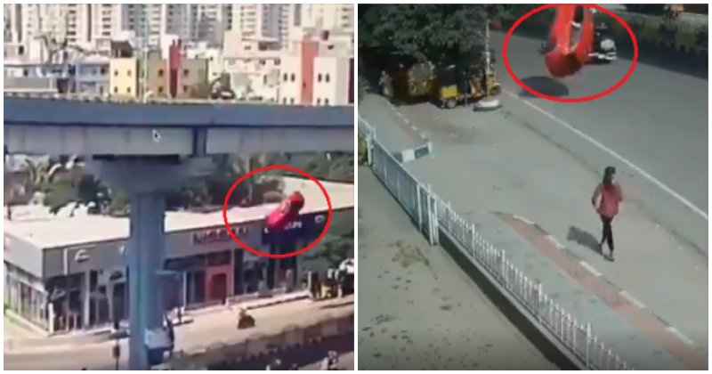 Over-speeding Car Flies Off Flyover & Crashes To The Ground, Kills 1 and Injures 6 - WORLD OF BUZZ