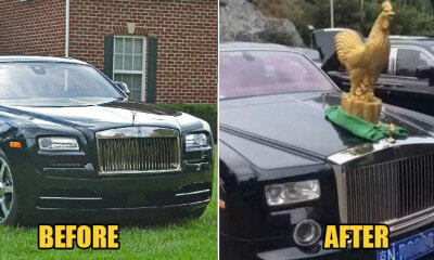 Owner Feels Rolls-Royce Ornament Not Flashy Enough, Buys Rm350K Golden Rooster Statue Instead - World Of Buzz 2