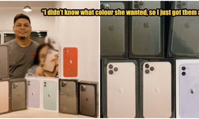 M'sian Man Surprises Wife With Not One, Not Two But NINE iPhones So She Can Pick Her Favourite - WORLD OF BUZZ