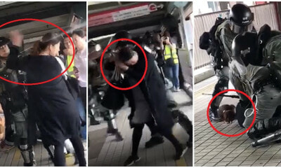 Policemen Pepper Spray Pregnant Lady Twice, Brutally Wrestle Her To The Ground After Argument - WORLD OF BUZZ 1