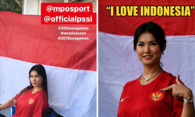 Remember Maria Ozawa? She's Now the Unofficial Mascot of Indonesian Football Team at the SEA Games! - WORLD OF BUZZ 3