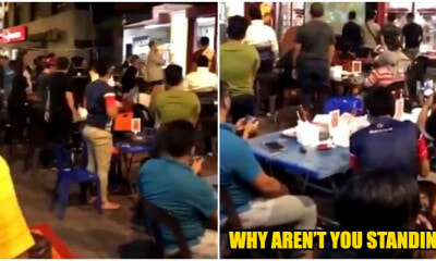 Video: Yet Another Ignorant Malaysian Refuse To Stand Up When Negaraku Is Be - WORLD OF BUZZ