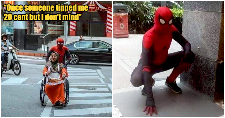 Spiderman spread his web to take care of disabled wife - WORLD OF BUZZ 5