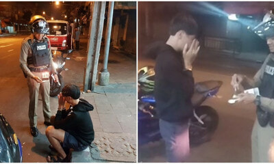 Teen Caught Speeding Cries As His Family Forgot His Birthday, Police Buys Him Cake Instead Of Saman - WORLD OF BUZZ