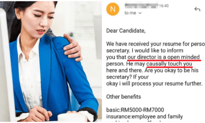 """The manager may touch you here and there"" - M'sian Reveals How She was Offered Secretary Job - WORLD OF BUZZ"