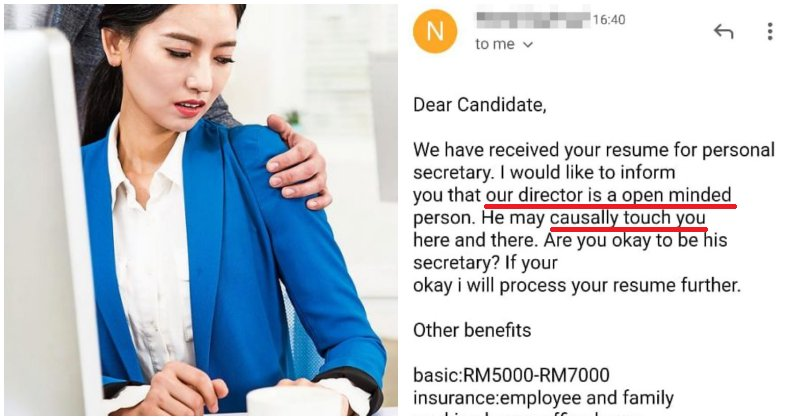 """""""The manager may touch you here and there"""" - M'sian Reveals How She was Offered Secretary Job - WORLD OF BUZZ"""