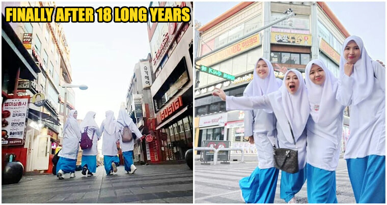 These #DOPE Ladies Finally Made A Reunion At Korea Wearing Their HIGH SCHOOL UNIFORM - WORLD OF BUZZ