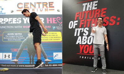 Trainer Completed 2727 Burpees in 8 Hours & Became First M'sian To Win International Fitness Award - WORLD OF BUZZ