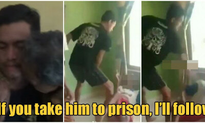 Video: 66yo Grandfather Gets Kicked By Grandson, Still Begs Police Not To Bring Him To Prison - WORLD OF BUZZ 2