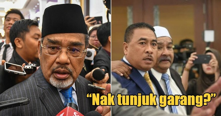 """Video: """"Bangang, Bodoh..."""" Two Umno MPs Were Seen Shouting At Each Other In Parliament Lobby - WORLD OF BUZZ"""