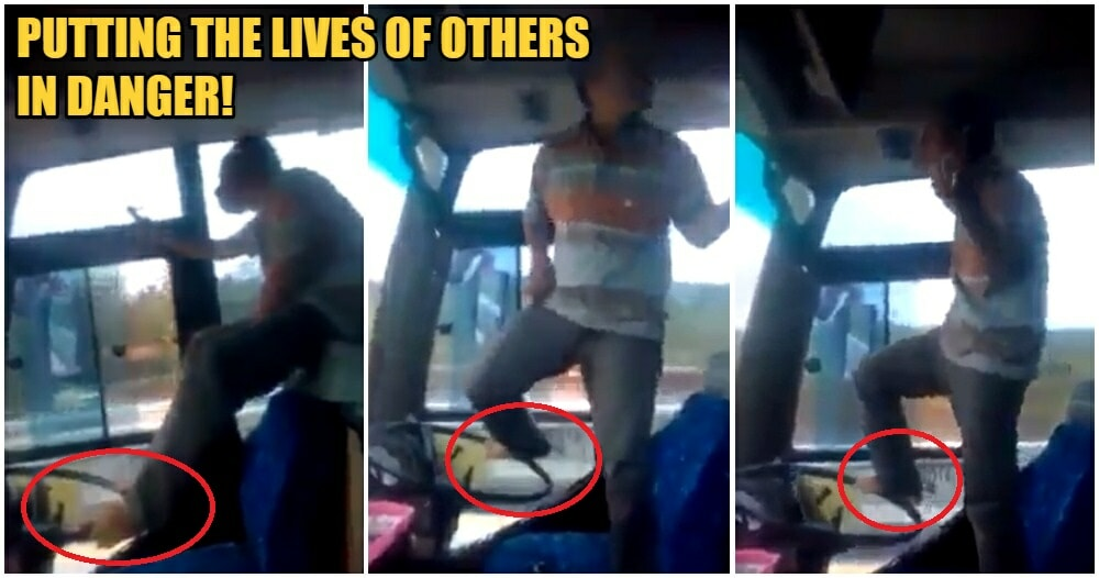 Video: Bus Driver Uncle Sings, Dances & Plays The Air Guitar While Steering Bus With Foot - WORLD OF BUZZ 1