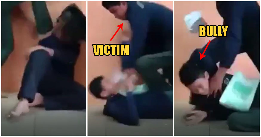 Video: M'sian Boy K.O's His Own Bullies After They Violently Punched & Kicked Him In Class - WORLD OF BUZZ