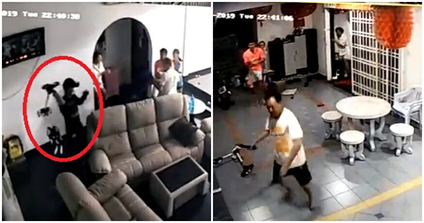 Watch: Johor Family Bravely Beats Up & Chases 2 Robbers Wielding Axes From Their Home - WORLD OF BUZZ 2
